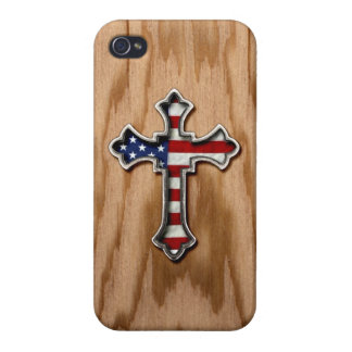 USA Flag Cross iPhone 4/4S Case