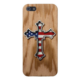 USA Flag Cross iPhone 5/5S Cases