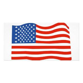 USA flag Customised Photo Card