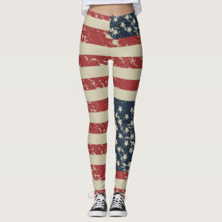 USA Flag Deserted Look Leggings