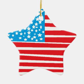 USA flag design pic.gif Ceramic Star Decoration