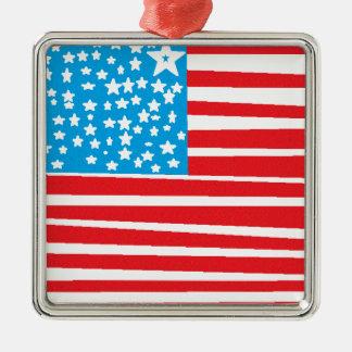 USA flag design pic.gif Christmas Ornament
