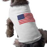 USA Flag Dog Jacket Doggie T Shirt
