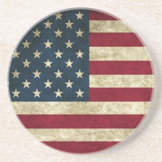 USA flag drink coaster