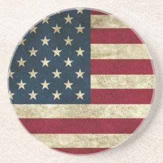 USA Flag Drink Coasters