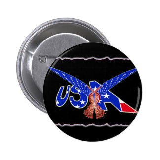 USA FLAG EAGLE PHOENIX 6 CM ROUND BADGE