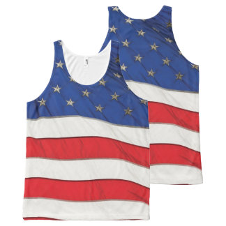 USA Flag for All-Over-Printed-Unisex-Vest All-Over Print Tank Top