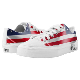 USA Flag for Zipz-Low-Top-Shoes Printed Shoes