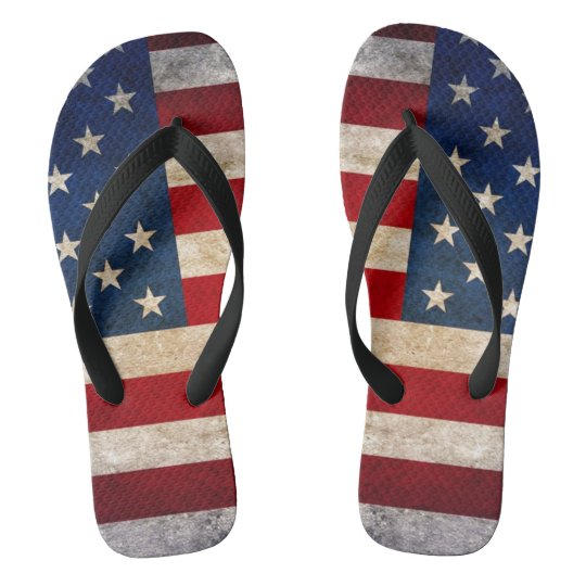 usa flag forth of july strips unisex flip flops