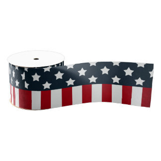 USA flag Grosgrain Ribbon