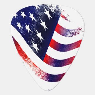 USA flag Groverallman Guitar Pick