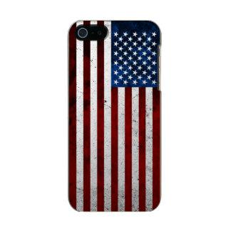 USA FLAG GRUNGE INCIPIO FEATHER® SHINE iPhone 5 CASE