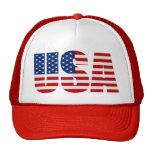 USA FLAG HAT TRUCKER HAT