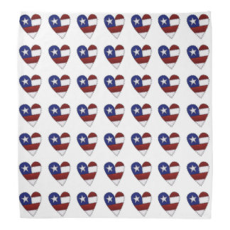 USA Flag Heart Bandana