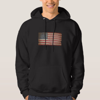 USA Flag Hooded Pullover