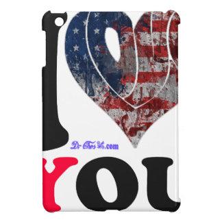 USA FLAG I LOVE YOU CUSTOMIZABLE PRODUCTS iPad MINI CASES
