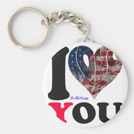USA FLAG   I LOVE  YOU  CUSTOMIZABLE PRODUCTS KEYCHAINS