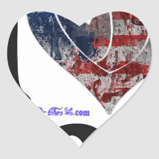USA FLAG I LOVE YOU CUSTOMIZABLE PRODUCTS HEART STICKER