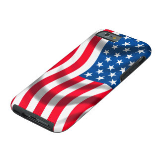 USA flag image for iPhone 6 plus Vibe Tough iPhone 6 Case