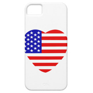 USA flag in heart shape on iPhone 5/5S Case. iPhone 5 Covers