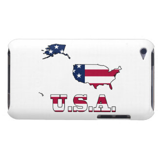 USA Flag in Map iPod Case-Mate Cases