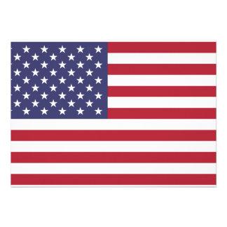 USA Flag Invitation