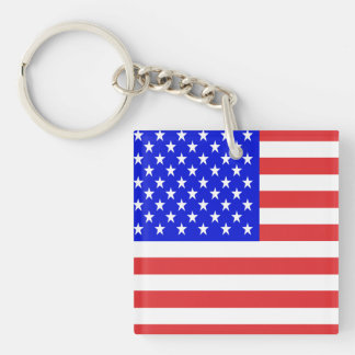 USA Flag Key Ring