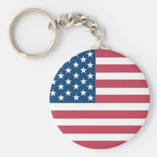 USA FLAG KEY CHAIN
