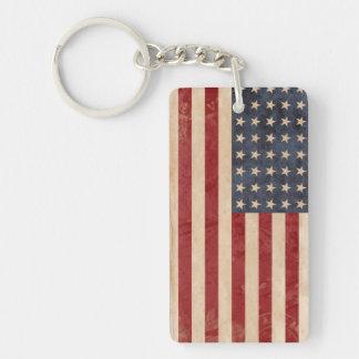 USA Flag Keychain Souvenir