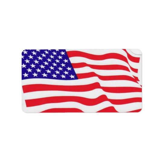 USA flag labels