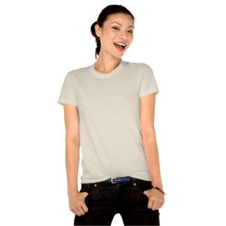 USA Flag Ladies Organic T-Shirt (Fitted)