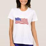 USA Flag Ladies Performance Micro-Fibre T-Shirt