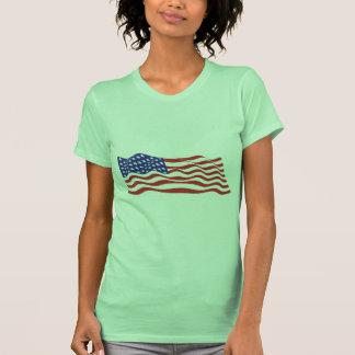 USA Flag Ladies Petite T-Shirt