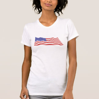 USA Flag Ladies Tank Top (Fitted)