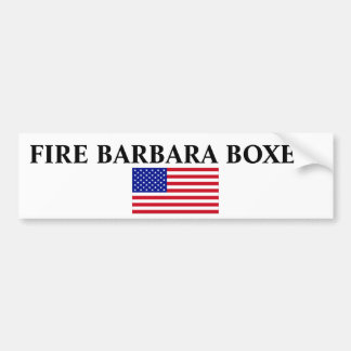 USA-Flag-Large, FIRE BARBARA BOXER! Bumper Sticker