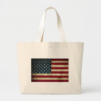 USA Flag Large Tote Bag