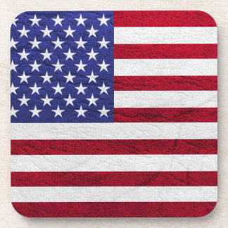 USA FLAG LEATHER DRINK COASTERS