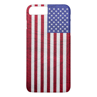 USA FLAG LEATHER iPhone 7 PLUS CASE