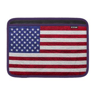 USA FLAG LEATHER MacBook SLEEVE