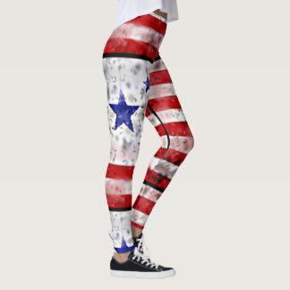 USA Flag Leggings