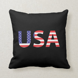 USA Flag Letters Cushion