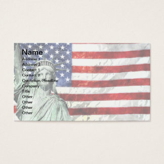 USA FLAG & LIBERTY BUSINESS CARD