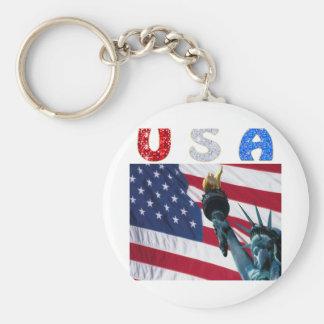 USA flag liberty Keychains