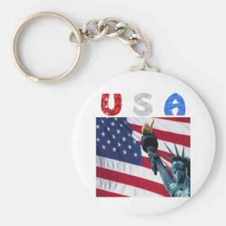USA flag liberty Keychain