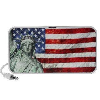 USA FLAG LIBERTY TRAVELLING SPEAKER