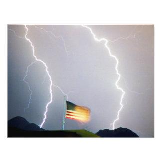 USA Flag Lighting Invitations