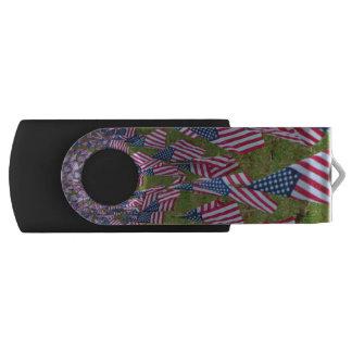 USA Flag Line USB Memory Stick