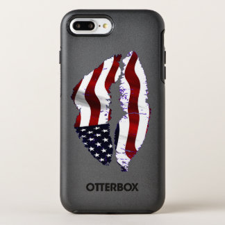USA Flag Lips OtterBox Symmetry iPhone 8 Plus/7 Plus Case