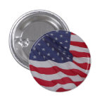 usa flag - long may it wave 3 cm round badge