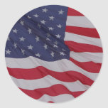usa flag - long may it wave round stickers